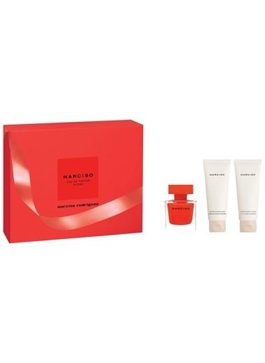 Narciso Rodriguez  Rouge Edp 50+Bl75+Dj75 Kadın Parfüm Set Renksiz